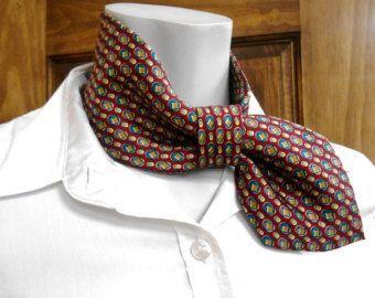 Woman necktie necklace necktie collar refashioned by CuchiDesigns