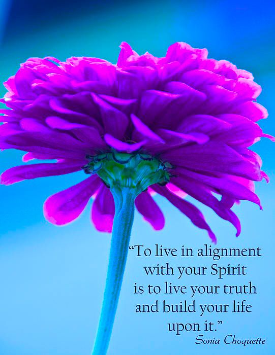 To live in alignment with your Spirit is to live your truth and build your life upon it.