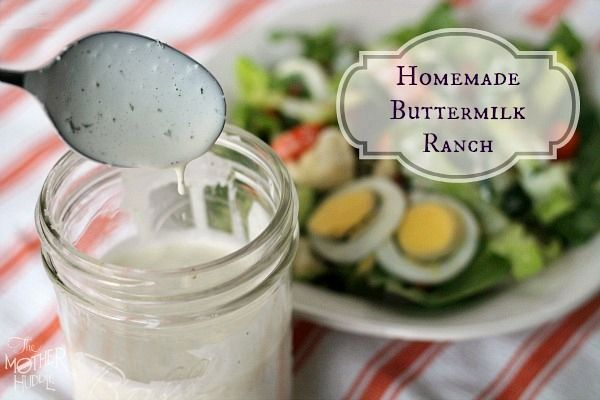 Homemade Buttermilk Ranch Dressing | Food and snacks | Pinterest