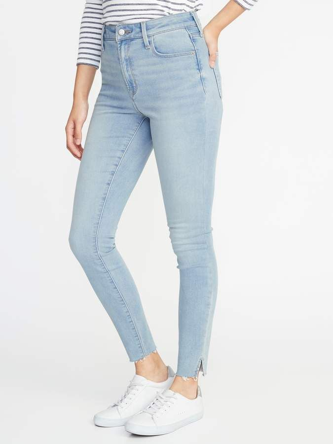 2a30796401c Old Navy High-Rise Built-In Warm Raw-Edge Rockstar Jeans for Women ...