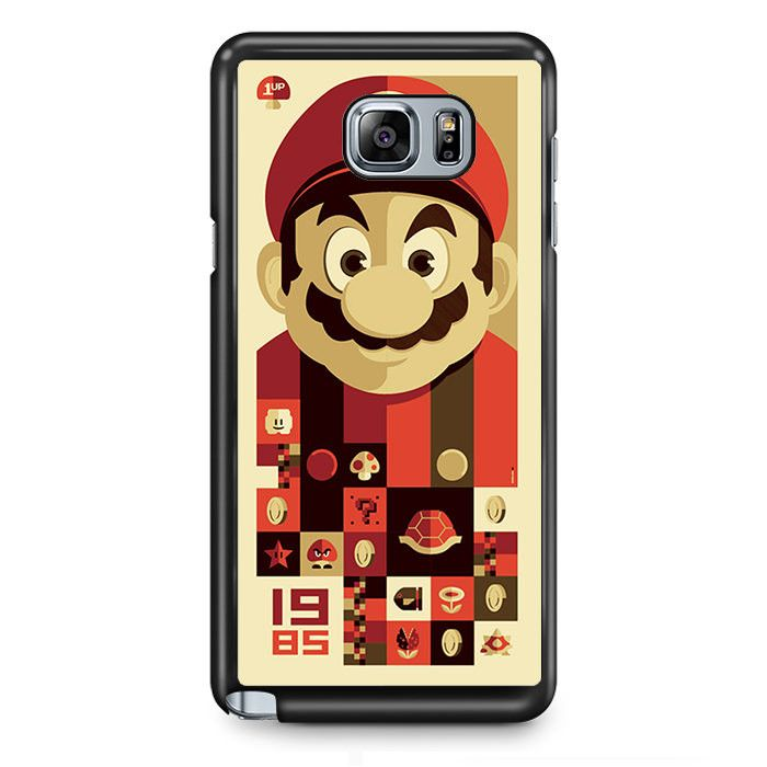Mario Bross Old Game TATUM-6889 Samsung Phonecase Cover Samsung Galaxy Note 2 Note 3 Note 4 Note 5 Note Edge
