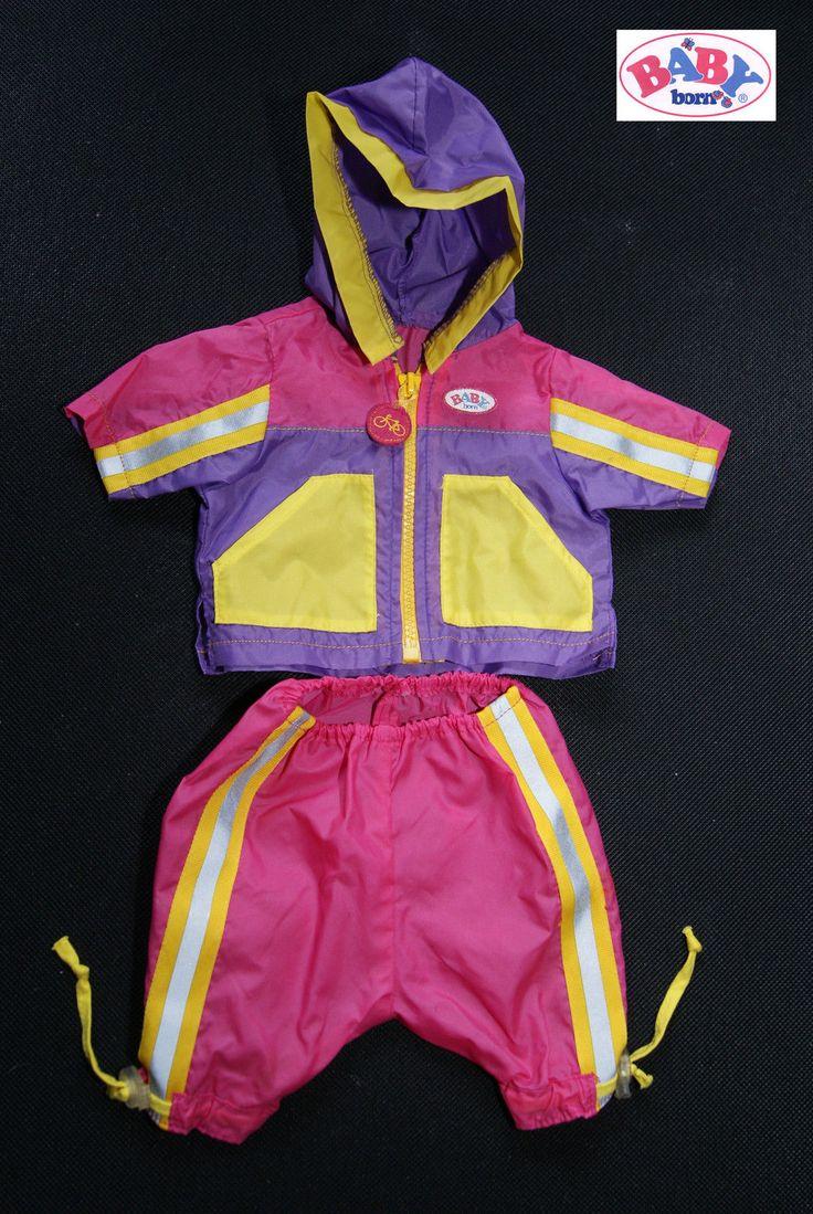 Baby Born  Zapf  Creation  Fahrrad Outfit  Puppe 43 cm  2 Teile Jacke und Hose in Spielzeug, Puppen & Zubehör, Babypuppen & Zubehör | eBay!