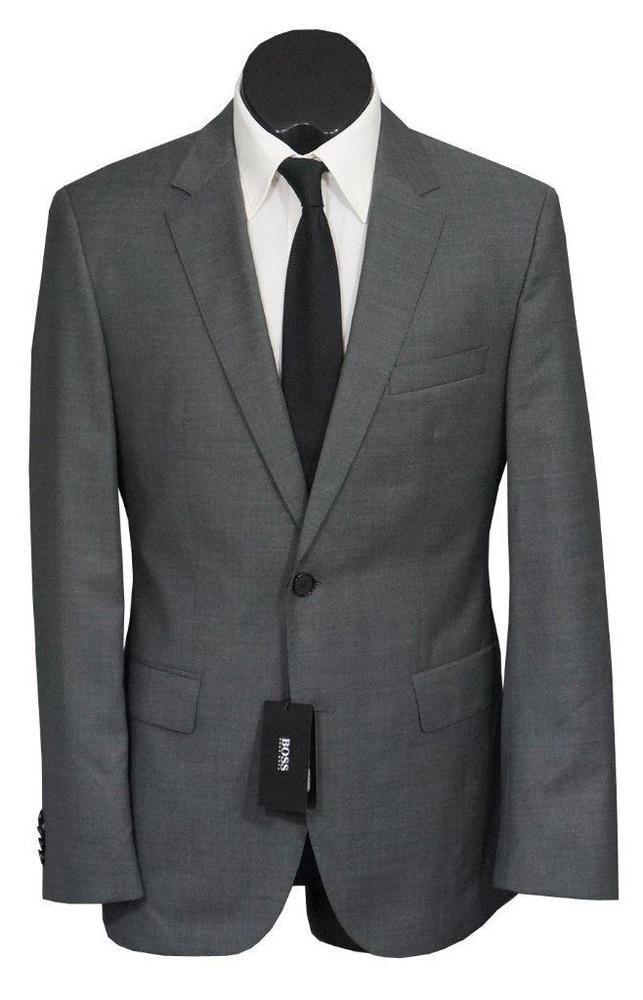 dd98eb59 eBay #Sponsored New Hugo Boss The James4/Sharp6 2 Btn 120S Wool Regular Fit  Mens Suit Gray 40R
