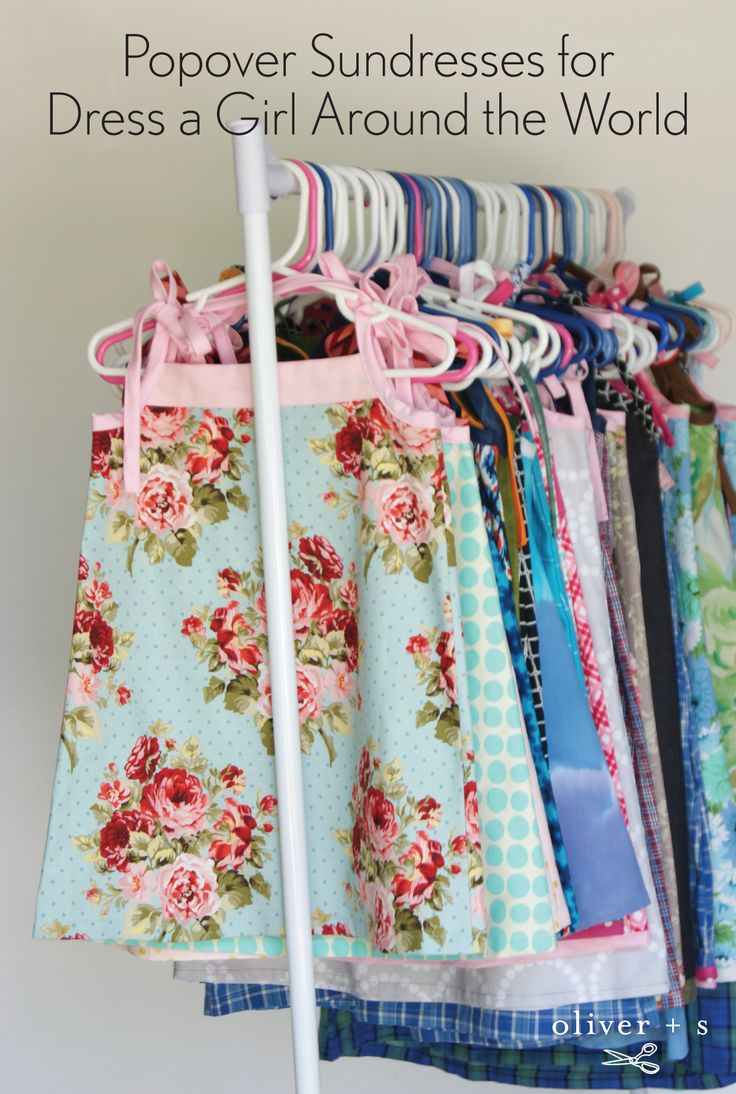 """Please consider sewing an Oliver + S Popover Sundress and donating it to Dress a Girl Around the World where their vision is: """"Image a world where every girl owned at least one dress."""""""