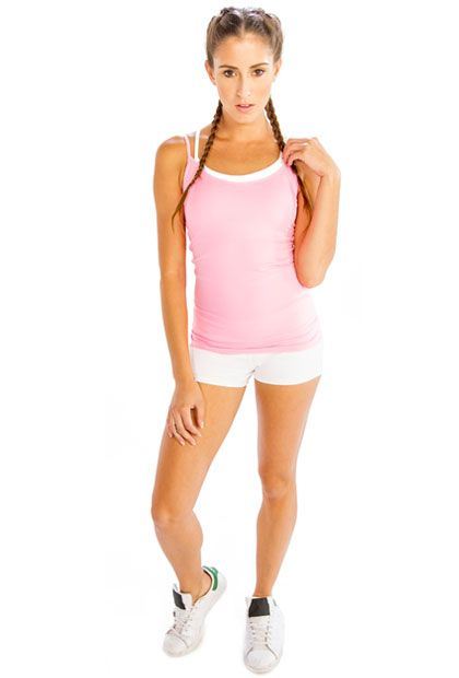 #Workout in #Style with #Comfy #Baby #Pink #Camisole #Online from #Alanic