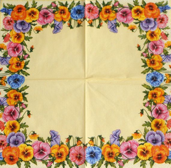 Yellow decoupage paper napkins. Flower napkin. by Napkintime