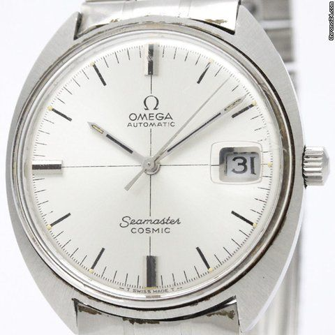 Omega Seamaster ad: $434 Omega Seamaster Cosmic Automatic Mens Watch 166.026 Bf312101 Ref. No. 166.026; Steel; Automatic; Condition 4 (poor); Location: Japan, tokyo