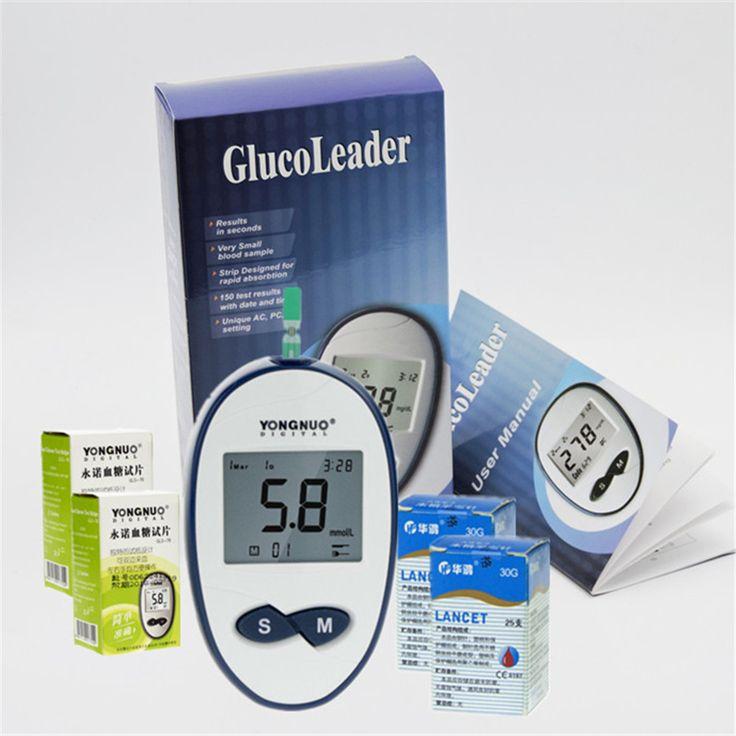 2017 New! Diabetes Diabetic Blood Sugar Detection Blood Glucose Meter Glucometer Medidor de Glicemia +50pcs strips&50pcs Needles