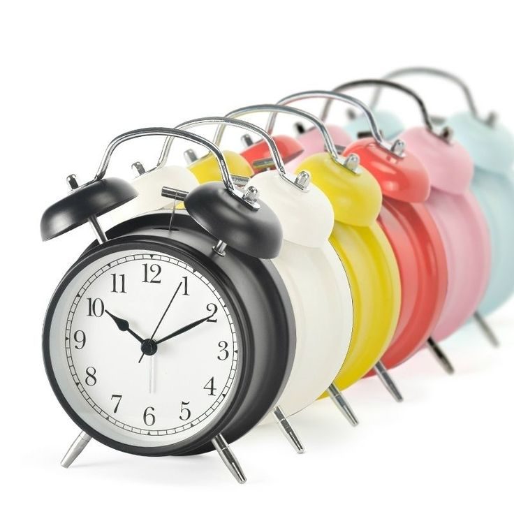 Home Decor Mini Retro Electronic Night Light Double Bell Mechanical Alarm Clock #Unbranded #Traditional