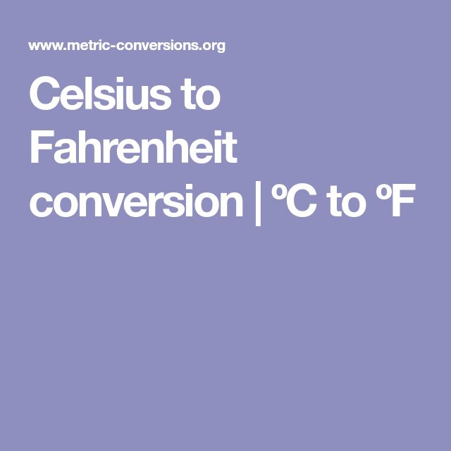 Best 25+ Metric conversion calculator ideas on Pinterest Baking - celsius to fahrenheit charts