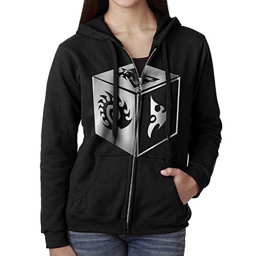 JHKM Womens Starcraft Game Protoss Terran Symbol Zerg ZipUp Hoodie Jackets Black Size XL ** You can find out more details at the link of the image.(This is an Amazon affiliate link and I receive a commission for the sales)