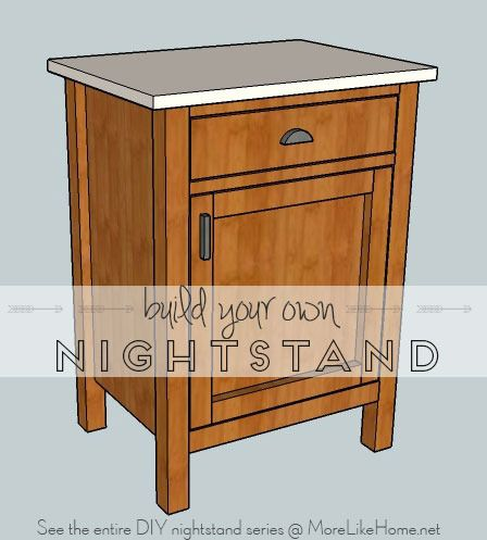 build your own nightstand plans woodworking projects plans. Black Bedroom Furniture Sets. Home Design Ideas