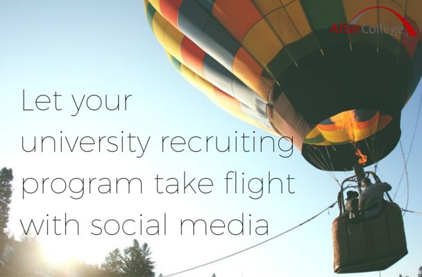 Okay, you get it. Social media is an important tool for university recruiters. But no one tells you HOW to use it. That changes now. Here's a guide that will lead you through the basics of social media for university recruiters and give you specific examples of companies who are doing it right!