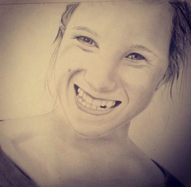 Pencil drawing of Katie