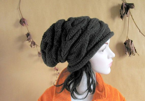 Women slouchy  beanie hat  Slouch Beanie  chunky by recyclingroom