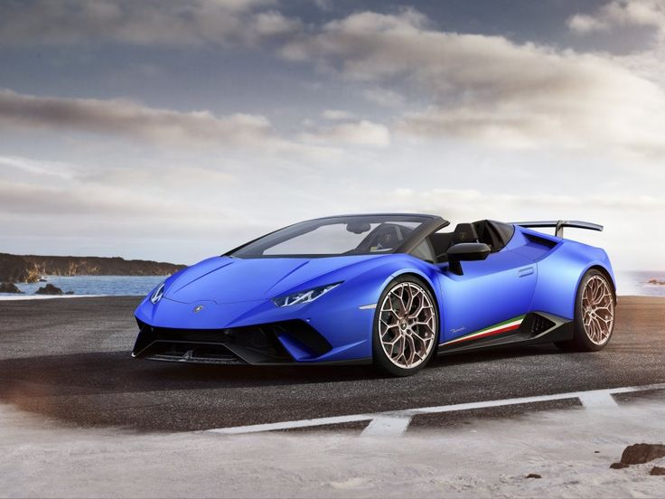 Lamborghini Huracán, 2018, speedster, blue sports car wallpaper