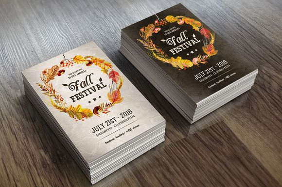 Fall Festival - Invitation by VectorMedia on @creativemarket