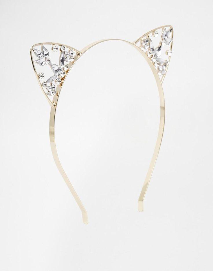 New Look   New Look Cerci Cat Ear Headband at ASOS