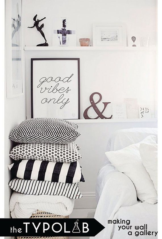 Good Vibes Only / typography print poster / by theTypolab on Etsy