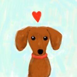 Sweet Doxie ArtPhotos Doxieart Jpg, Best Friends, Doxie Art, Art Heart, Dachshund Painting, Baby, Photos Doxieartjpg, Hot Dogs, Sweets Doxie