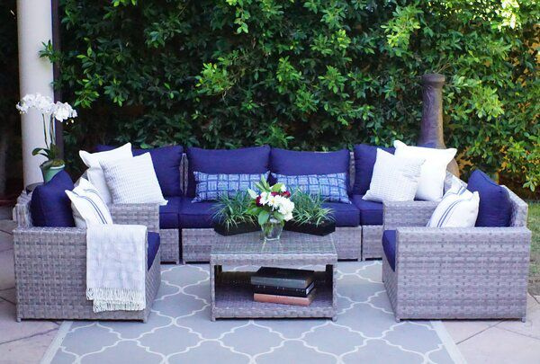 Kordell 7 Piece Sectional Seating Group With Cushions In 2020 Outdoor Furniture Sets Seating Groups Furniture
