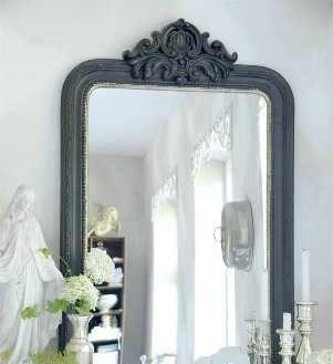 Fransk Spegel med ornament och silverdetalj - Jeanne d' Arc Living
