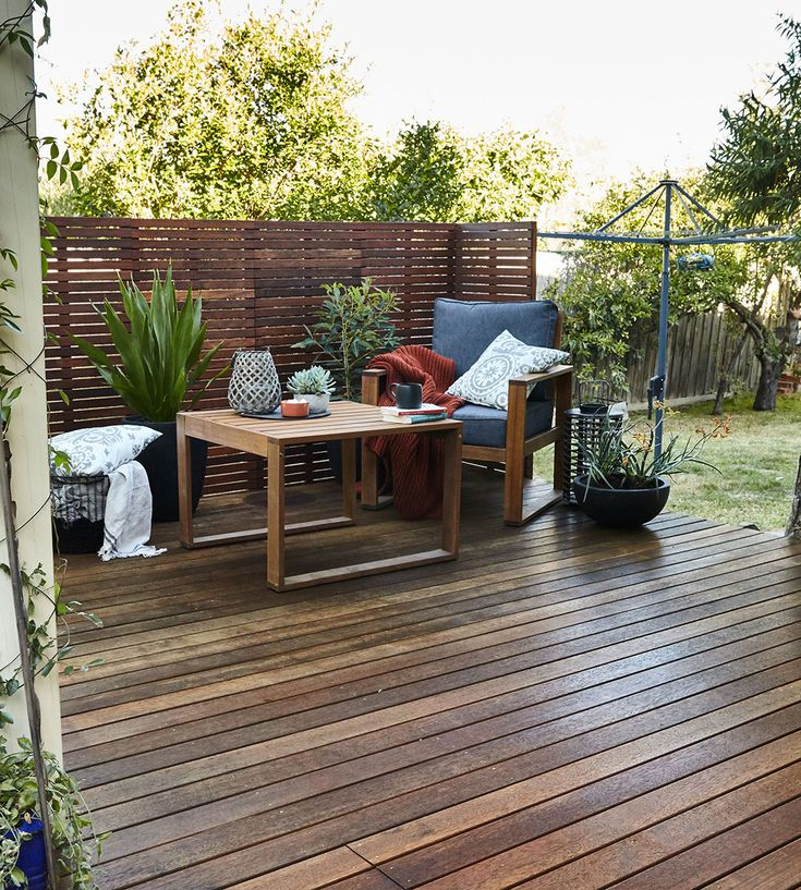 Restore your decking area and create a space made for entertaining. We used Intergrain slip resistant decking oil to bring this wood back to life #bunnings #deck