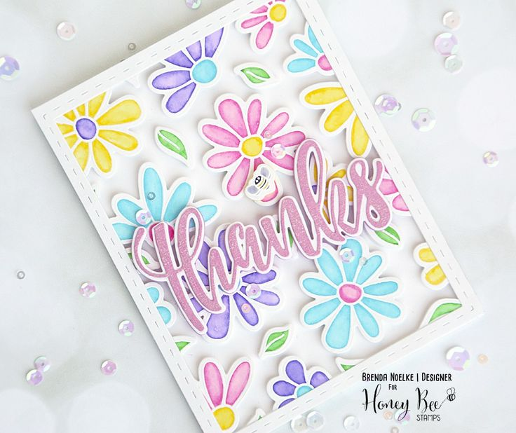 Happy weekend everyone!! Today is Saturday & that means I have a new project for you created from Honey Bee Stamps!!  I began by stamping all the cutie-patootie flowers and bees from Busy Bee o…