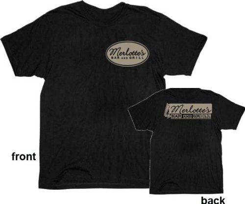 True Blood Merlottes Bar and Grill Mens Black T-shirt Tee
