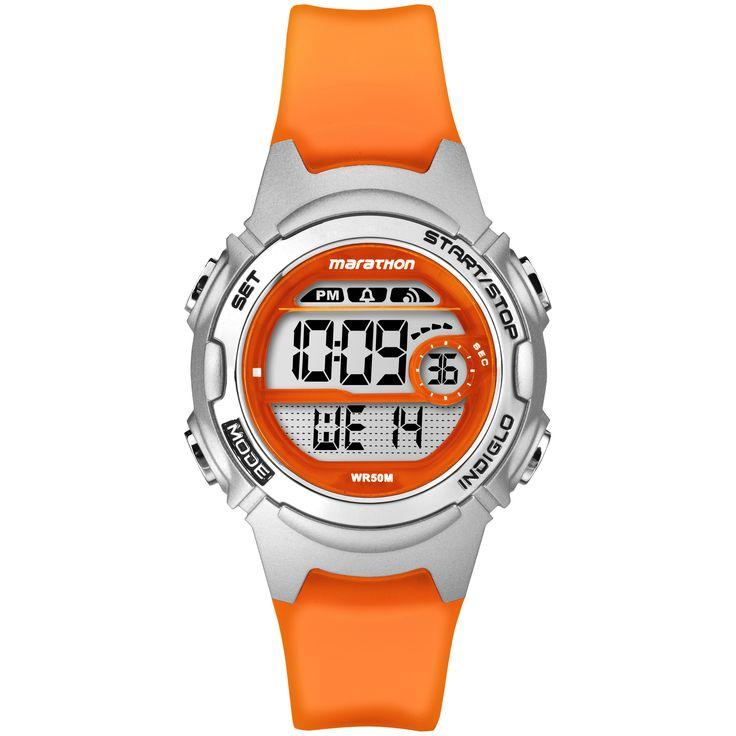 Marathon by Timex Women's TW5K96800M6 Digital Orange Watch