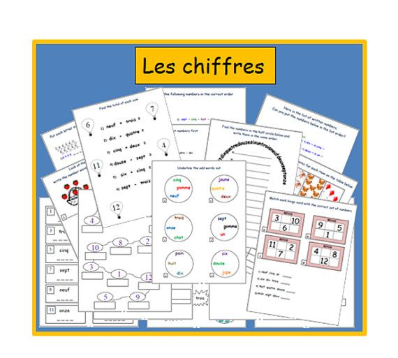 10+ images about French printable Worksheets on Pinterest | Number ...