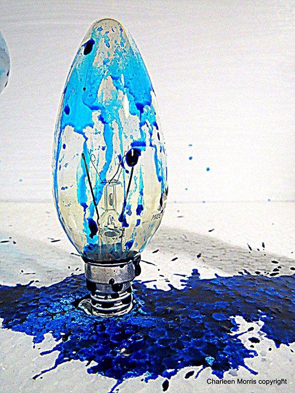 Study - Light Bulb Blue by Charleen Morris, via Behance