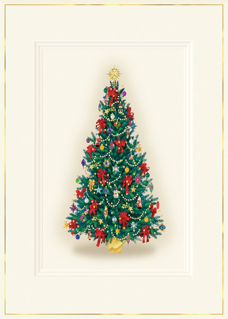 14 best christmas cards images on pinterest holiday cards photo this classic christmas card features a tree of red and green and gold foil accents on m4hsunfo