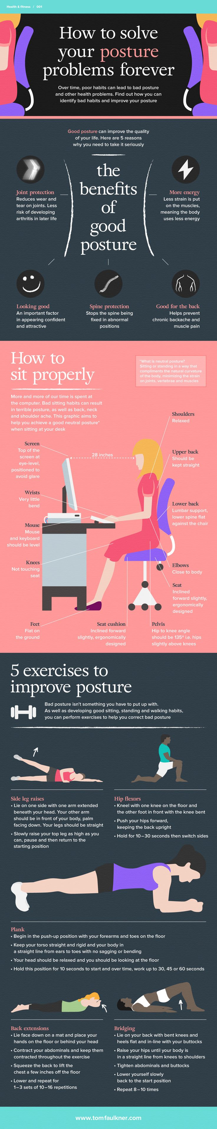 infographic about how to improve your posture