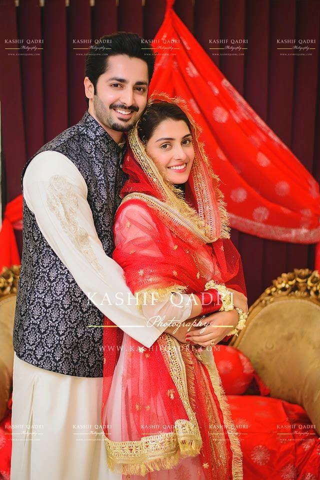 Cute Actress Danish Taimoor and Aiza Khan Wedding Pictures (2)