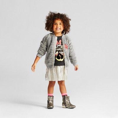 Toddler Girls' Minnie Mouse Sweatshirt Dress - Disney Charcoal Heather 3T, Gray