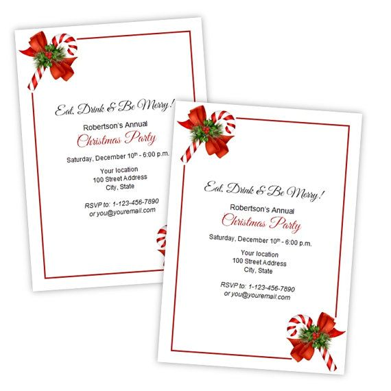 56 best Christmas Party Invitations images on Pinterest Flyers - microsoft word party invitation template