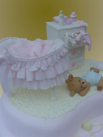 baby shower cake, so sweet! TORTAS MÓNICA :: Especialistas en Tortas