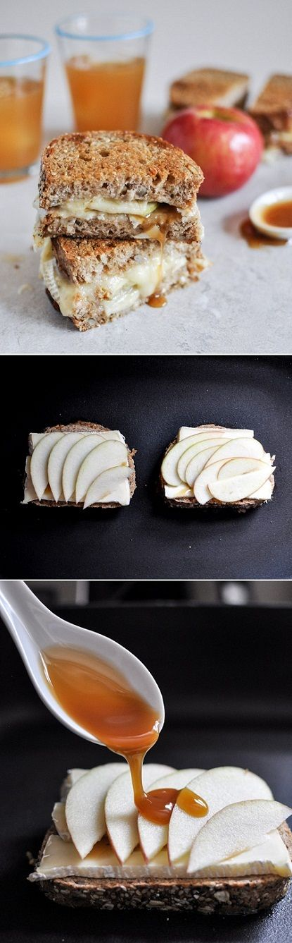 Caramel & Apple Grilled Cheese Sandwich