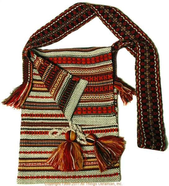 Handmade and hand woven Ukrainian over the shoulder handbag # UA10-4200 Sold on  https://www.allthingsukrainian.com/Cloth/handbags/Thumb/Page1.php