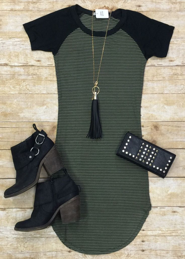 Home Team Tunic Dress Olive Privity Boutique Style