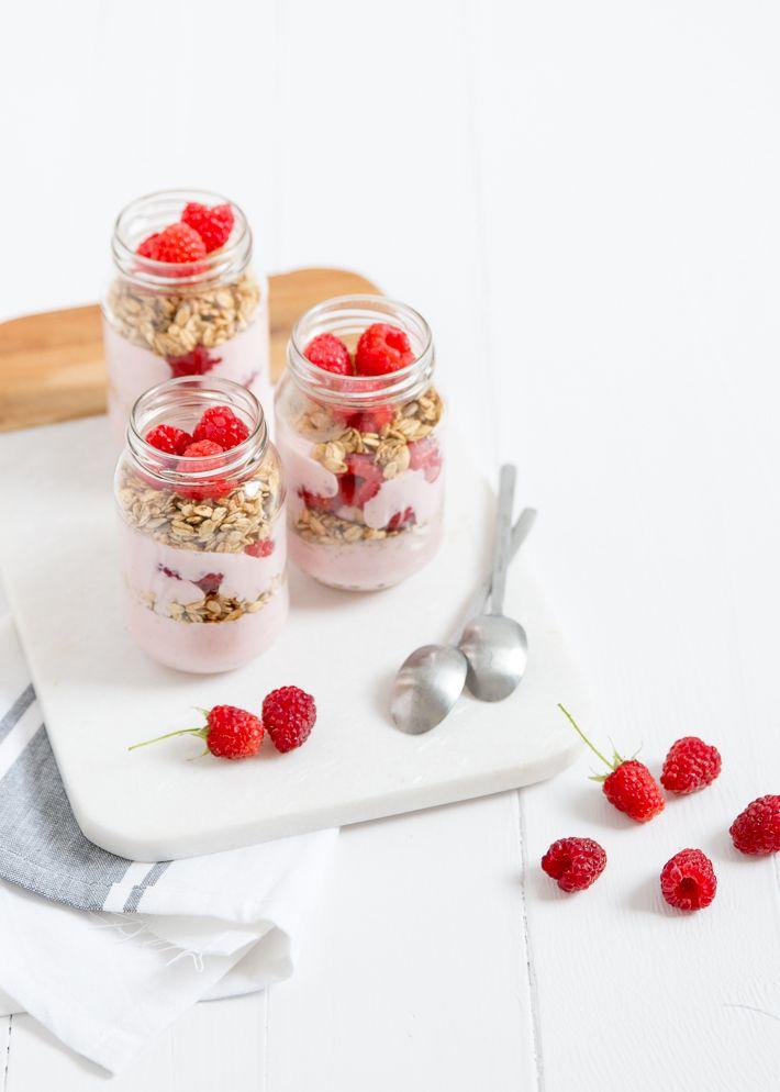 frambozen ontbijt trifle