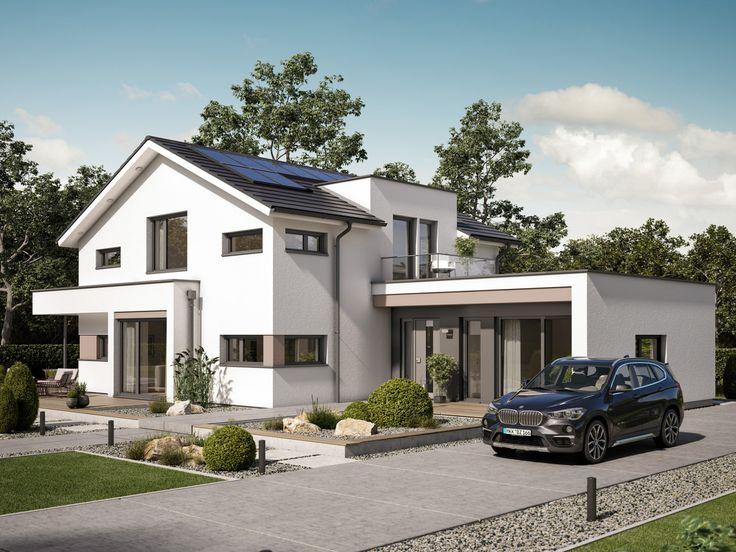 Einfamilienhaus mit Büro Anbau - Haus Concept-M 166 Bien Zenker - bien zenker haus