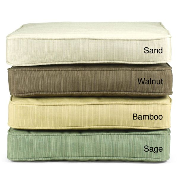 Indoor/ Outdoor Textured Neutral 60-inch Bench Cushion with Sunbrella Fabric - Overstock™ Shopping - Big Discounts on Outdoor Cushions & Pillows $110