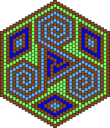 Triskelion pattern | This is the method I use to graph all my snowflake and kaleidescope ...
