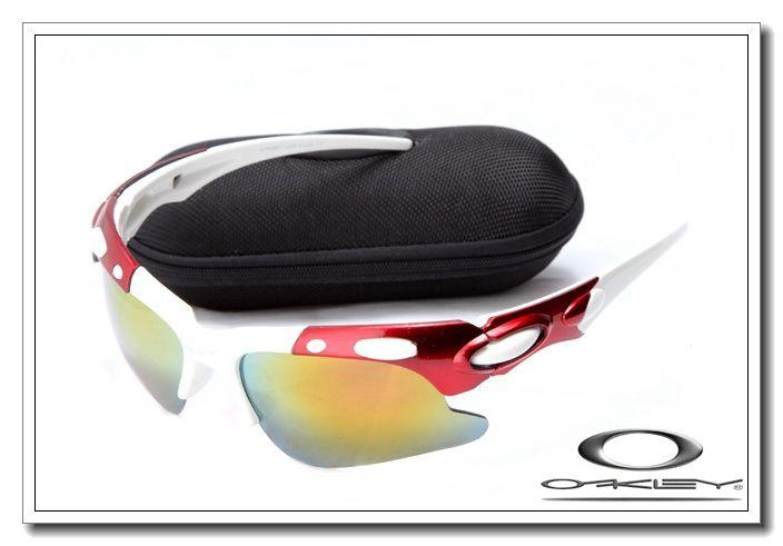 Oakley plate sunglasses red and white / fire iridium $13.00