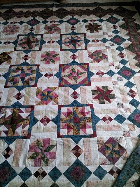 Quilt for my sister when it's done.  It is done. It is absolutely beautiful. Thank you.