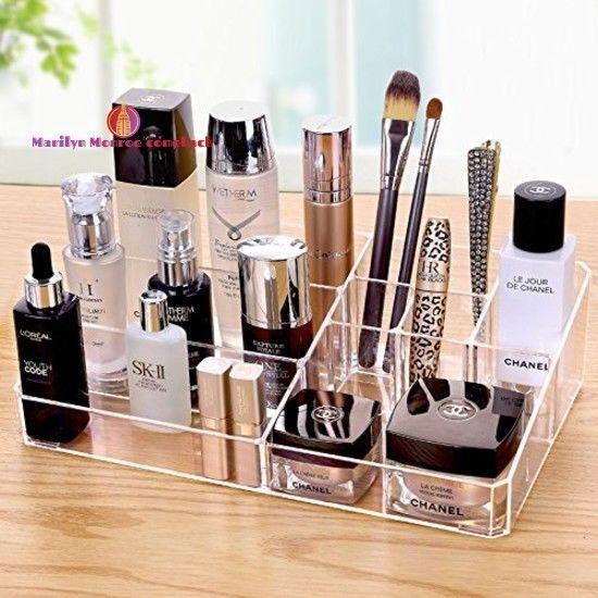9 Grid Makeup Organizer Lipstick Brushes Holder Cosmetic Jewelry Cq acrylic #Cqacrylic