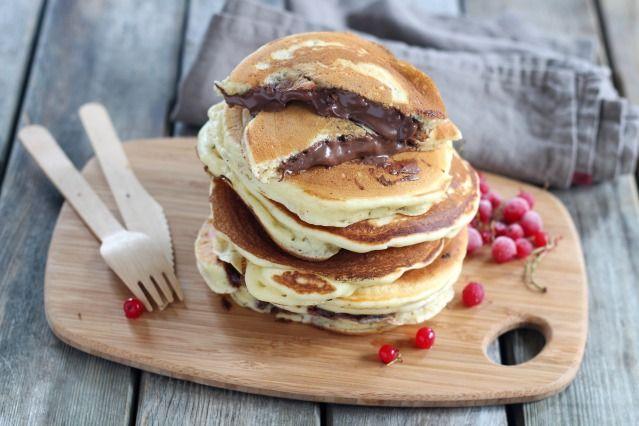Pancakes fourrés au Nutella - 9 photos