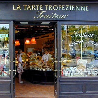 Pastry/Bakery in Saint Tropez, France.  Oooh, looks yummy.